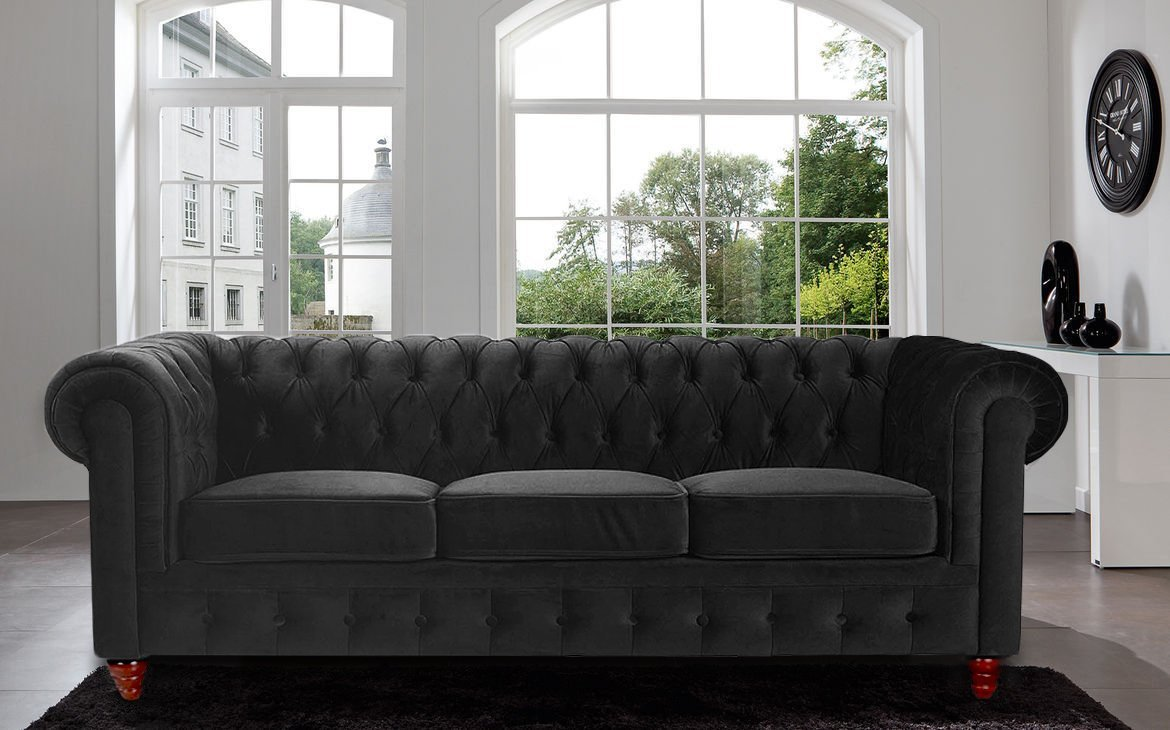 Furniture Simple But Elegant Tufted Sofa Design With Crate And